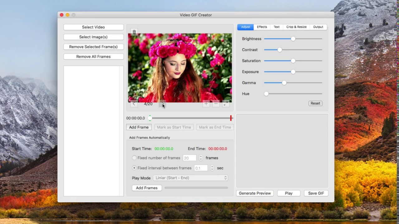 How to make a gif from images on Mac OS X