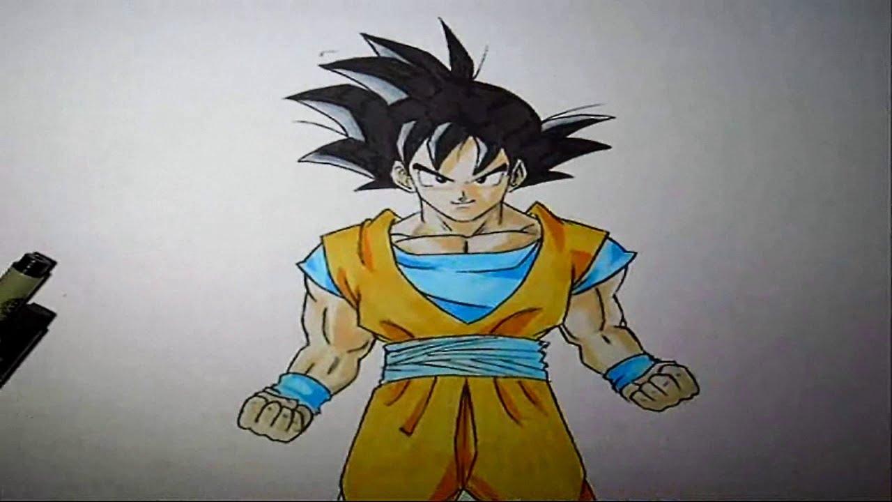 Wie zeichnet man Son Goku [Dragonball Z Tutorial] - YouTube
