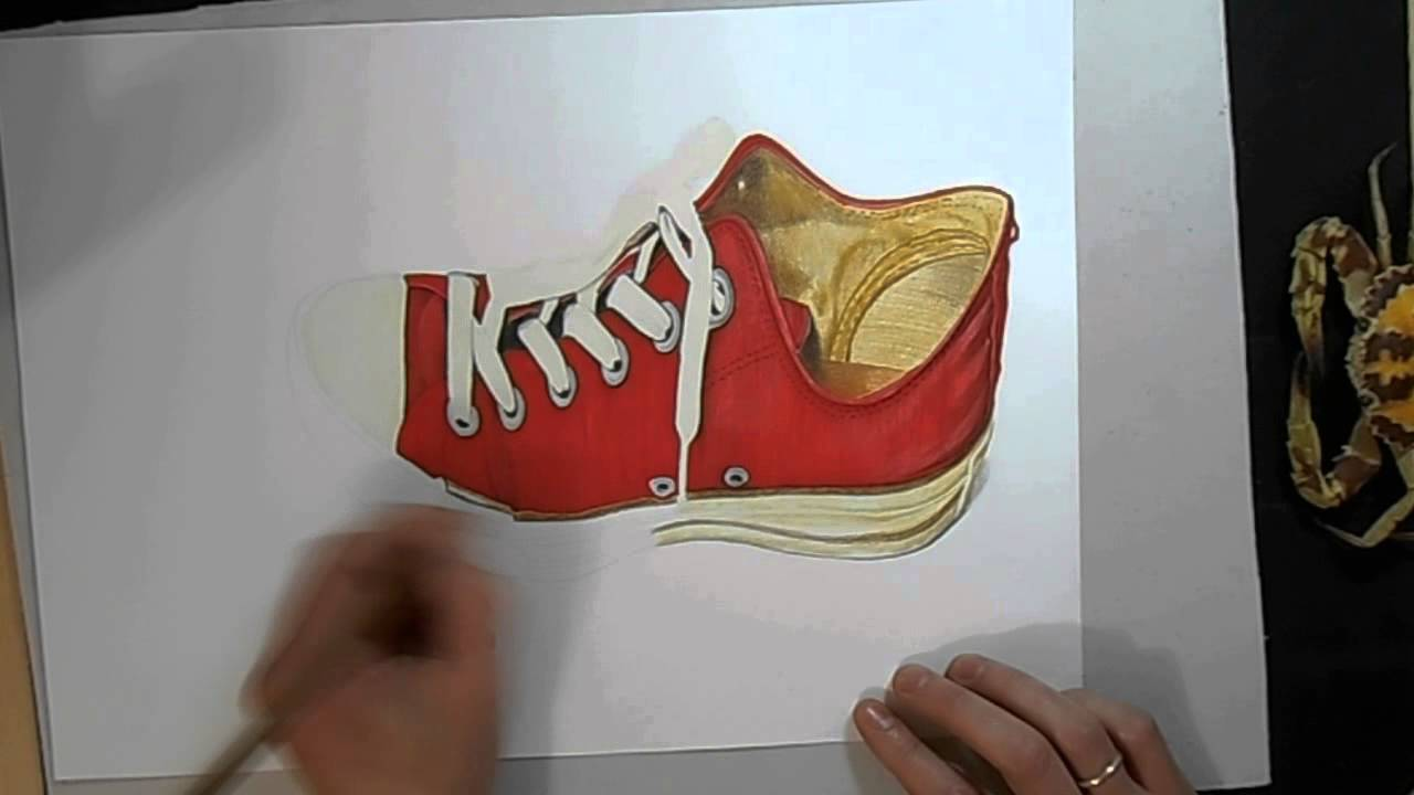 3D Art Drawing How To Draw A Shoe Red Dibujodrawing
