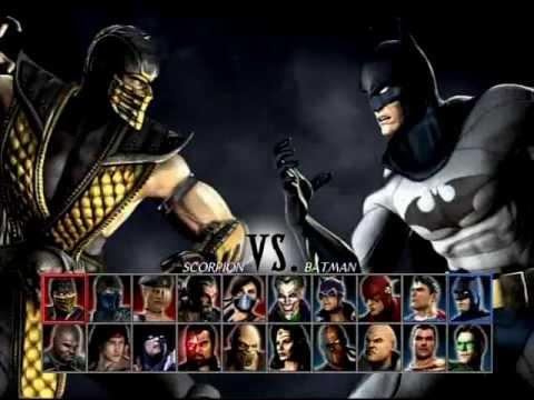 mortal kombat vs dc universe scorpion me vs batman