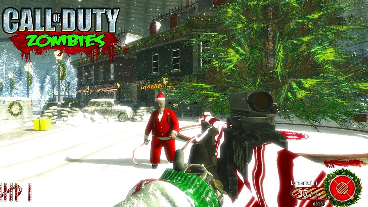 Christmas Zombie Santa.Santa Boss Zombie Christmas Zombies Call Of Duty Custom Zombies Gameplay