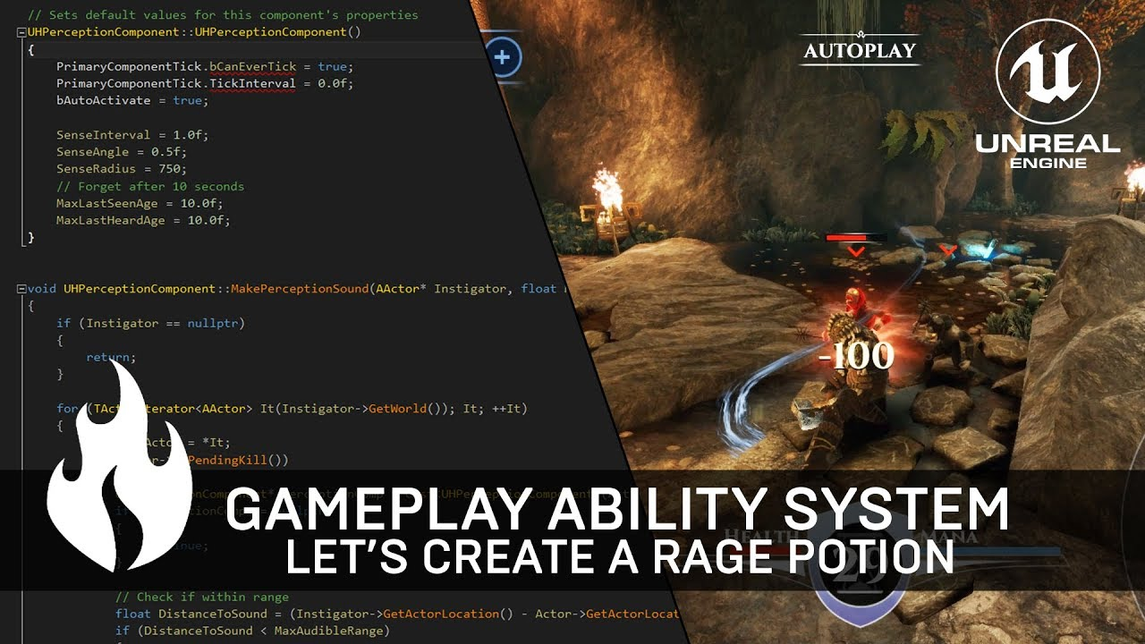 Gameplay Ability System Tutorial with C++ & Blueprint [Unreal Engine 4 RPG  Game]