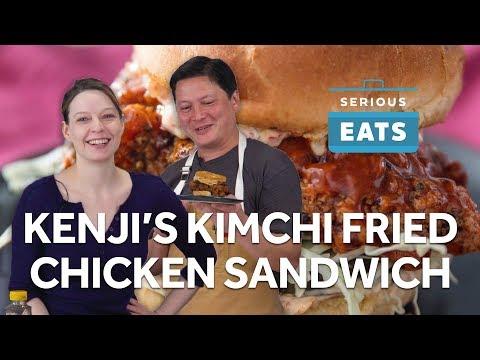 Kenji's Kimchi-Brined Fried Chicken Sandwich   Serious Eats
