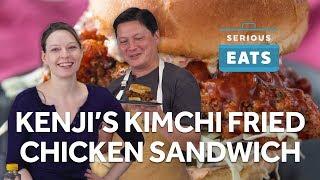 Kenji&#39s Kimchi-Brined Fried Chicken Sandwich  Serious Eats