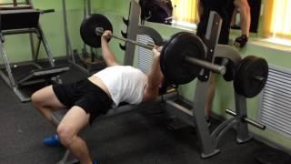 Жим 100 кг на 33 раза (после тренировки спины!)