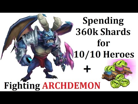 Spending 360k Shards For MAX Skills To Fight ARCHDEMON Increase Damage Castle Clash
