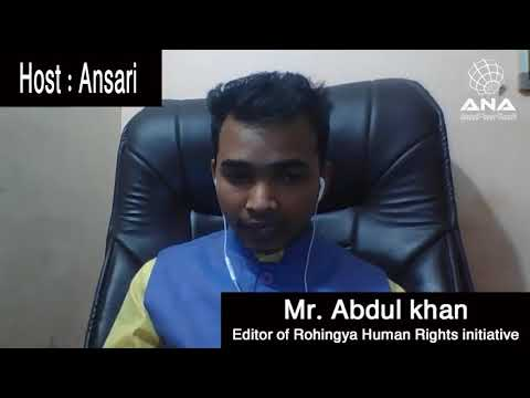 Rohingya Interview with Maung Abdul Khan by ANA news one Int Youth Summit 2018 & Rohingya literature