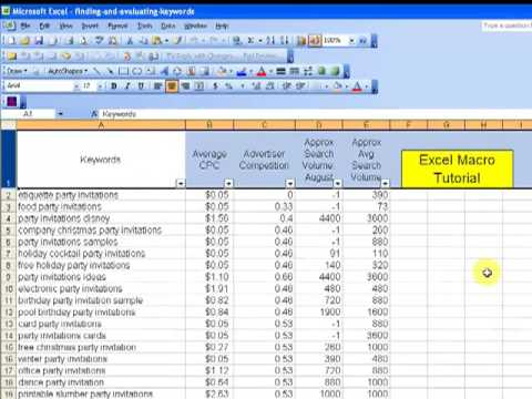 Excel Macros Tutorial (Record and Save Macro in Excel) - YouTube