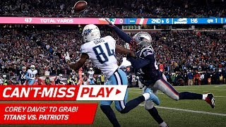 Corey Davis One-Handed Sliding TD Catch  Cant-Miss Play  NFL Divisional Round HLs