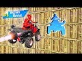 IMPOSSIBLE STUNT OBSTACLE COURSE! (Fortnite Funny Moments)