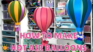 How to make a DIY Hot Air Balloon | Cricut Cutie | Melody Lane