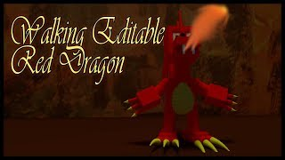 Roblox Script Showcase Episode#741/Walking Editable Red Dragon