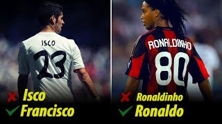 Real Name Of The Top Players Known By Their Nicknames
