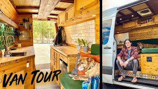CAMPER VAN TOUR | Micro Cabin Sprinter Van DIY Conversion will make you DROP