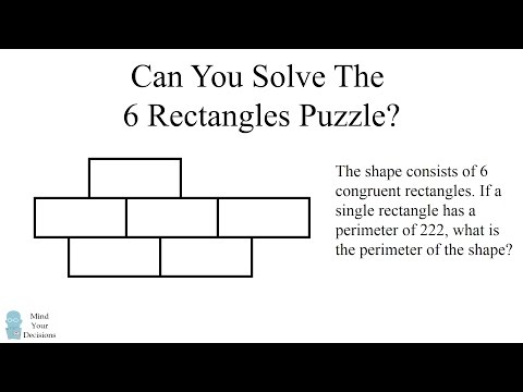 Evil Geometry Question - The 6 Rectangles Puzzle