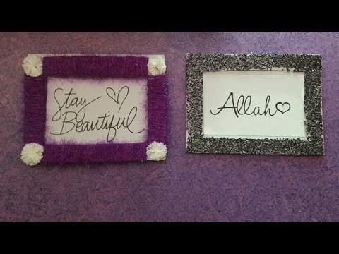 DIY FRAMES MAKING IDEAS| WALL DECORATIONS IDEA | BY AAA CRAFTERS