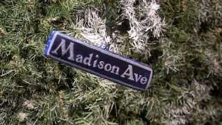 Madison Ave  Street Sign Christmas ornament