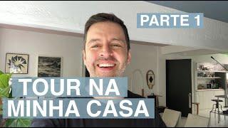 TOUR NA MINHA CASA - Sala de estar e jantar - MAURÍCIO ARRUDA