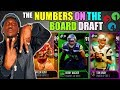 THE NUMBERS ON THE BOARD DRAFT! PLAYER WITH THE MOST FANTASY POINTS IN EVERY ROUND! Madden 18