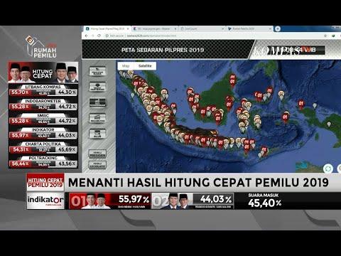 Inilah Provinsi Unggulan Jokowi-Ma'ruf Dan Prabowo-Sandiaga Versi Litbang Kompas