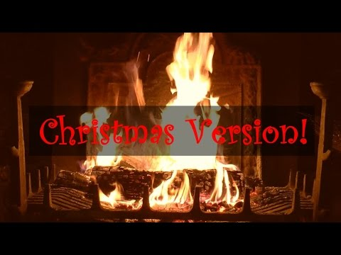 Yule Log Fireplace with Christmas Music (Jazz)