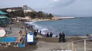Крым. Алушта сегодня (23 февраля 2017)