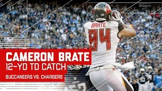 Jameis Winston Connects with Cameron Brate for a Big TD! | Buccaneers vs. Chargers | NFL