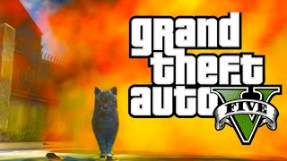 GTA 5 PC Mods - Cat in the Strip Club! [GTA V Funny Moments with Animal Mods]