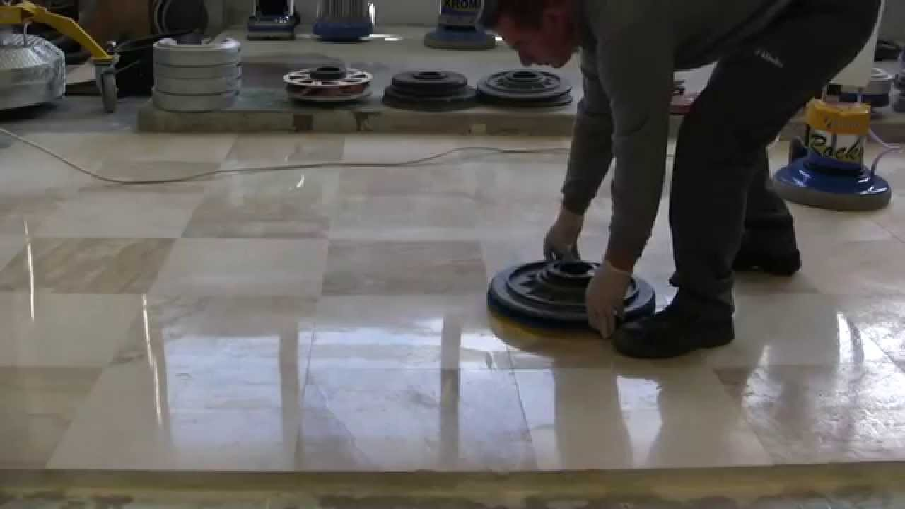 Easy Kit For Polishing Marble Floors Supershine Spongelux Youtube