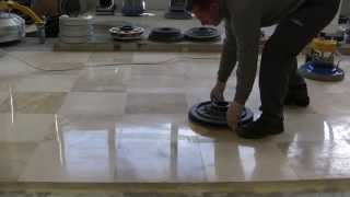 EASY KIT FOR POLISHING MARBLE FLOORS: SUPERSHINE & SPONGELUX
