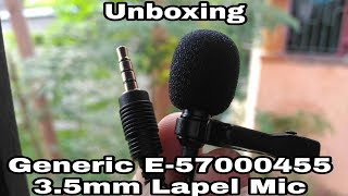 Unboxing of Generic E-57000455 3.5mm Lapel mic