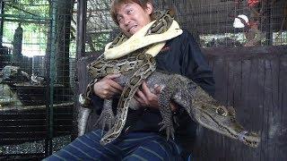 フィリピンのアドベンチャージャングルへ。ヘビやワニ、鳥との触れ合い...