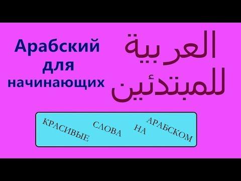 Красивые слова на арабском языке