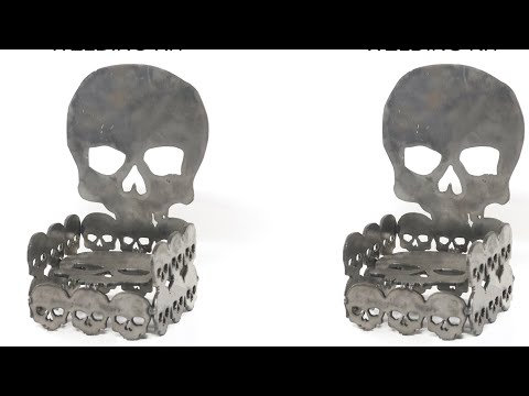 How To Weld A Skull Throne Metal Art Welding Project Sculpture Kit Barbie The Welder Skeleton GOT