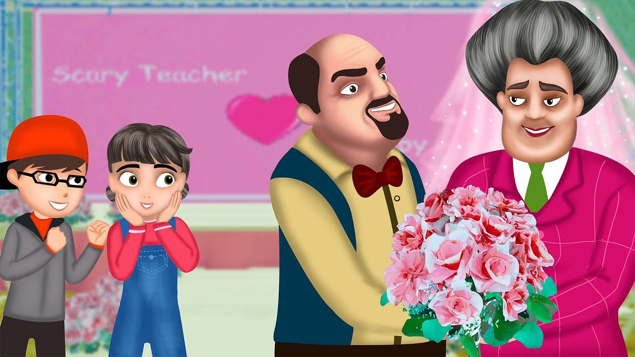 Happy Wedding | Miss T Love Francis | Couple Prank | Scary Teacher 3D