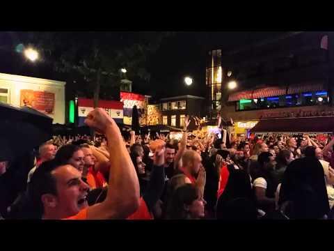 Nederland - Costa Rica penalty WK Korenmarkt Arnhem 2014
