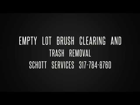 Empty Lot Trash Removal and Bush Hogging on North West Side of Indy- Schott Services
