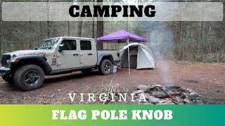 Camping at George Washİngton National Forest (Flag Pole Knob)
