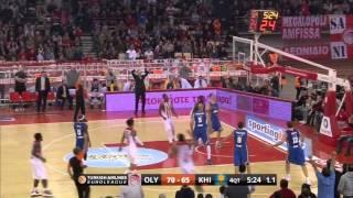 Highlights Olympiacos BC - Khimki Moscow Region 5-2-2016