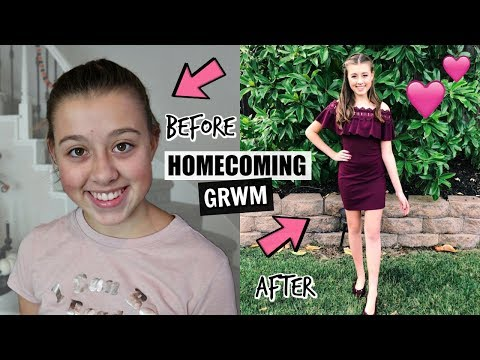GRWM For My First HOMECOMING Dance!