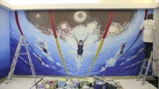 SwimOutlet.com gets Olympic Swimming Mural - Time-Lapse Video Thumbnail