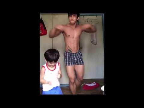 Sexy Muscle Asian Guy Dancin