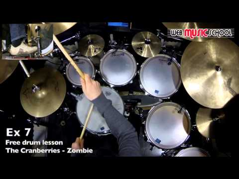 The Cranberries - Zombie - FREE DRUM LESSON - YouTube