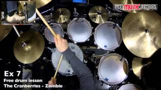 The Cranberries - Zombie - FREE DRUM LESSON