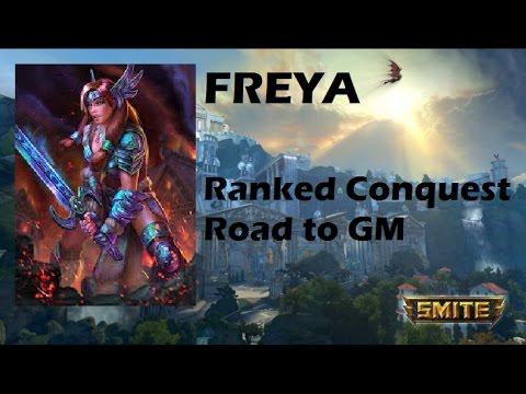 SMITE | Freya, con este hypercarry es lo que toca.. | Ranked Conquest | Road to GM #17