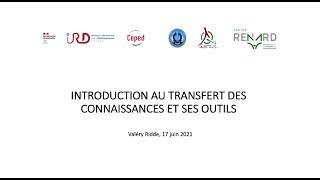 Introduction au transfert de connaissances / Valéry Ridde