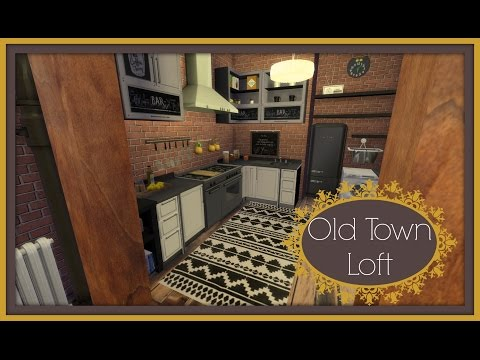 Sims 4 - Speed Build - Old Town Loft Part1