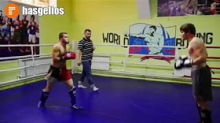 В Хасавюрте в спортзале Кикб прошли сборы по кик боксингу