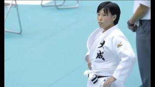 森部真於 × 堂崎月華  女子柔道 57Kg 準決勝 インターハイ2017