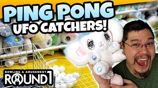 Ping Pong Ball Catcher Wins?! Peropero Sparkles in the Pingpong UFO Catchers at Round 1! TeamCC